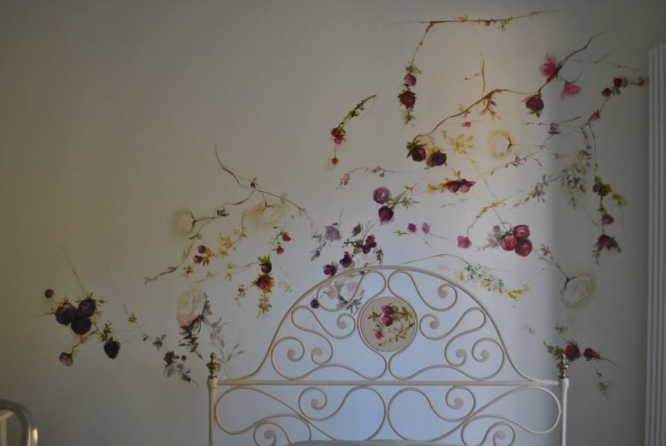 Murales pesonalizzato con fiori