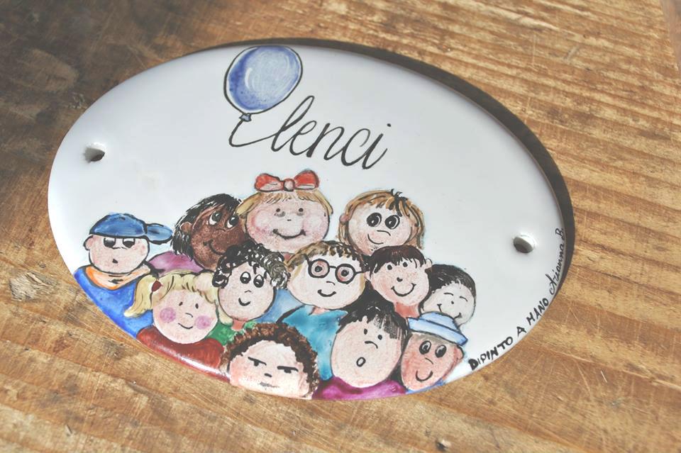 Targhette Per Porte In Ceramica.Targhette Personalizzate In Porcellana Targhe Porta Ceramica