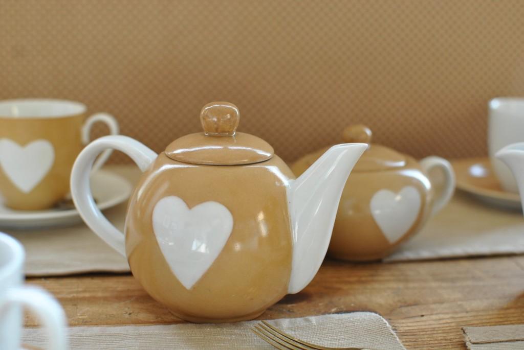 Teiera ceramica cuore